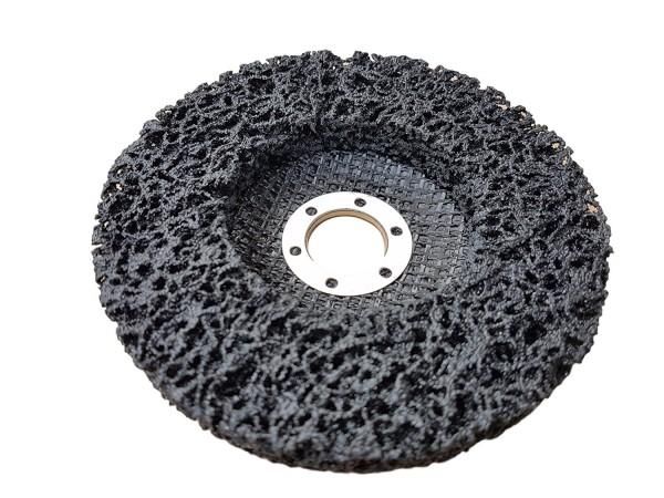 Rostio CSD Scheibe 125 mm Reinigungsscheibe schwarz für Winkelschleifer