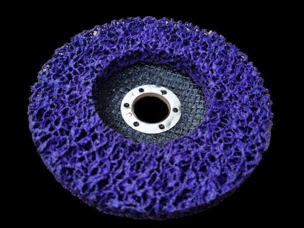 Rostio CSD Reinigungsscheibe 125 mm lila für Winkelschleifer - Flex