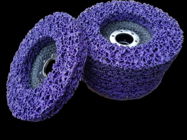 5 x CSD Scheibe lila 125 mm Set für Winkelschleifer