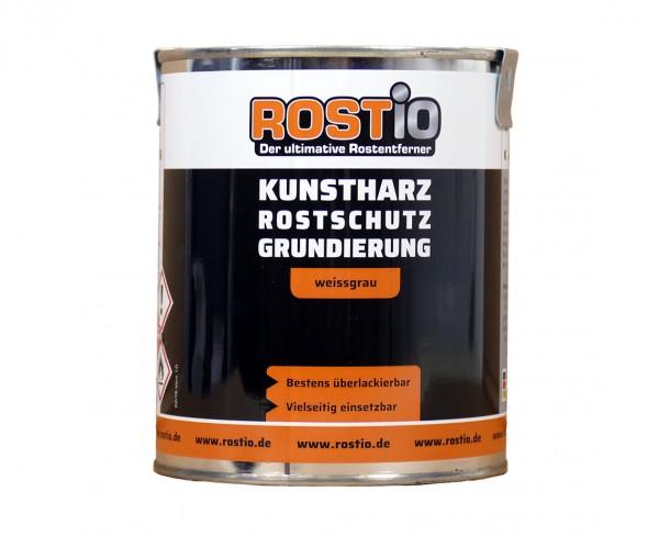 Rostio Rostschutzfarbe Kunstharz Rostschutzgrundierung weissgrau