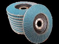 10 x Rostio Fächerscheibe 125 mm Inox Edelstahl blau